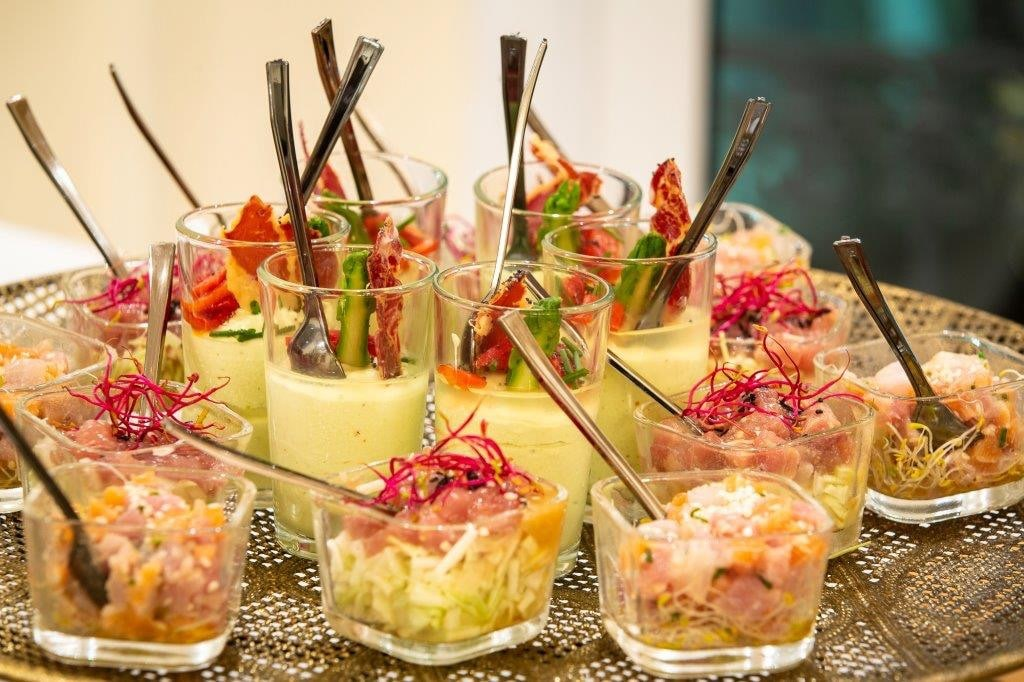 Des verrines par Tamaa pendant un cocktail à Nice-min